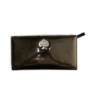 Kate Spade Brown Patent Leather Glitter Wallet
